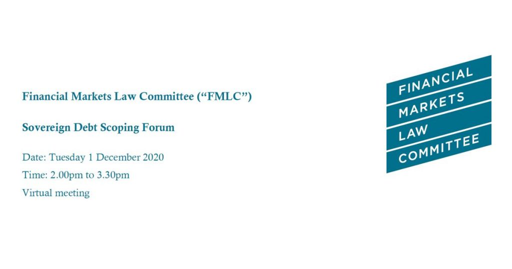 EMEA participation at the Sovereign Debt meeting of the Financial Markets Law Committee (FMLC)
