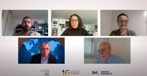"""EMEA President, Prof. Rym Ayadi, highlights the importance of debt transparency at the webinar """"Atlantic approaches to global challenges"""""""