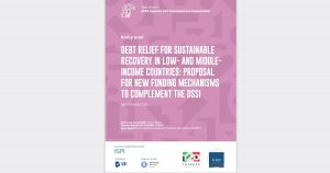 """Policy paper on """"Debt Relief for Sustainable Recovery in Low and Middle Income Countries"""" published by the T20"""